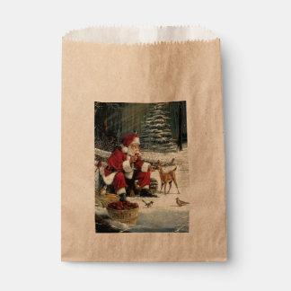 Sacolinha Pintura de Papai Noel - arte do Natal