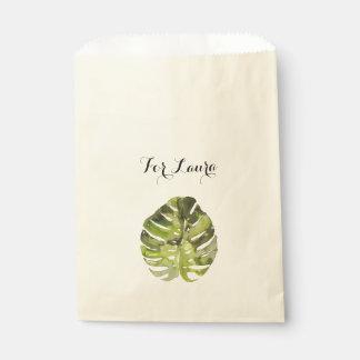 Sacolinha Pintura tropical da folha da aguarela