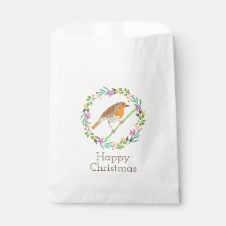 Sacolinha Pisco de peito vermelho o pássaro do Natal