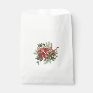 Sacolinha poinsétia moderna do feriado do vintage floral