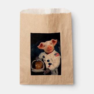 Sacolinha Porco do astronauta - astronauta do espaço