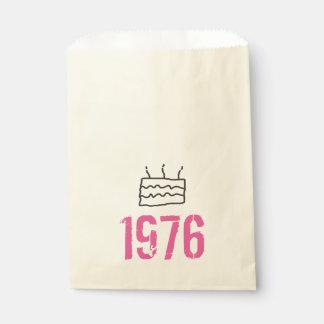 Sacolinha Preto cor-de-rosa do aniversário do nascer em 1976