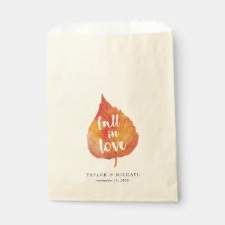 Sacolinha Queda nas folhas de outono do amor | que Wedding