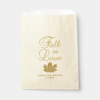Sacolinha QUEDA no casamento da folha de bordo do ouro do