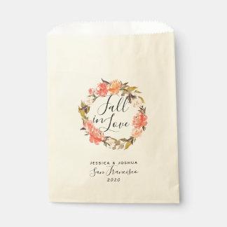 Sacolinha Queda no deleite floral do casamento da grinalda