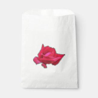 Sacolinha Rosa vermelha elegante