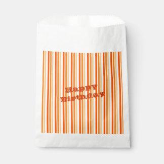 Sacolinha Saco alaranjado do biscoito do papel da listra