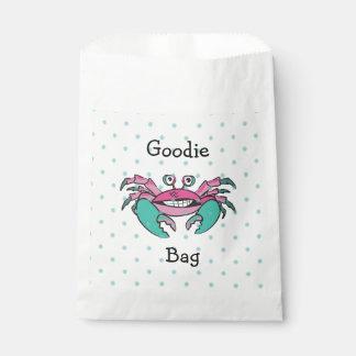 Sacolinha Saco bonito de Goodie do caranguejo do rosa & da