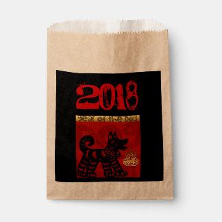 Sacolinha Saco chinês do favor do zodíaco do ano de 2018