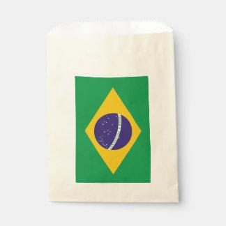 Sacolinha Saco do favor com a bandeira de Brasil