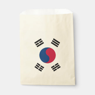 Sacolinha Saco do favor com a bandeira de Coreia do Sul
