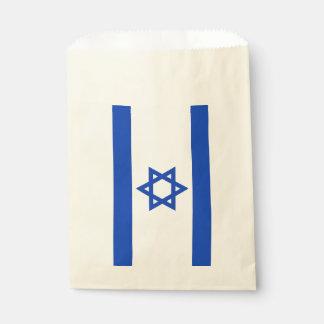 Sacolinha Saco do favor com a bandeira de Israel