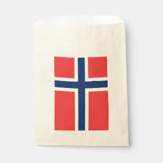 Sacolinha Saco do favor com a bandeira de Noruega