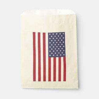 Sacolinha Saco do favor com a bandeira dos Estados Unidos da