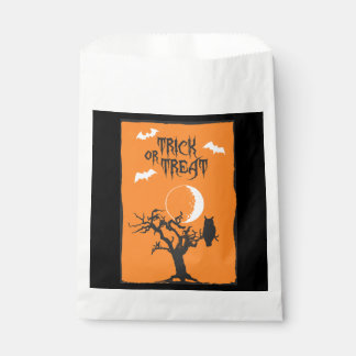 Sacolinha Saco do favor da árvore do Dia das Bruxas