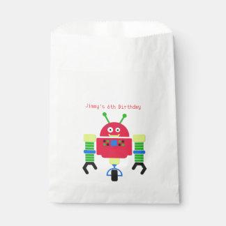 Sacolinha Saco do favor de festa de aniversário do robô dos