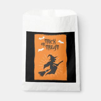 Sacolinha Saco do favor do cartão da bruxa do Dia das Bruxas