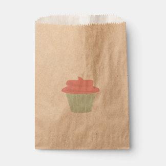 Sacolinha Saco do favor do cupcake