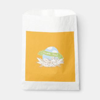 Sacolinha Saco moderno do favor da natureza do chá de