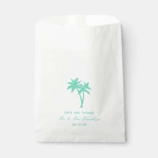 Sacolinha Saco tropical do favor do casamento de praia da