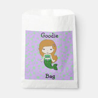 Sacolinha Saco verde & roxo bonito de Goodie da sereia