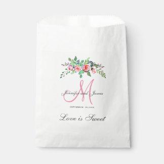 Sacolinha Saco Wedding personalizado do favor - monograma
