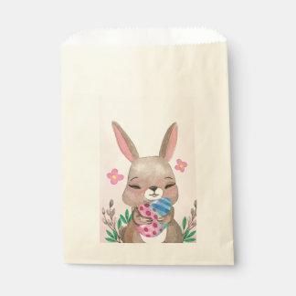 Sacolinha Senhorita cor-de-rosa bonito coelhinho da Páscoa e