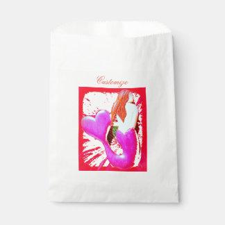 Sacolinha sereia coração-atada vermelho Thunder_Cove