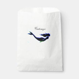 Sacolinha sereia subaquática preta Thunder_Cove