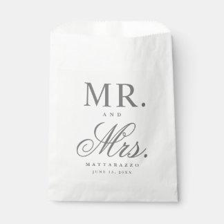 Sacolinha Sr. e Sra. as bolsas do favor do casamento