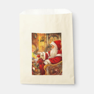 Sacolinha Trenó do papai noel - ilustração de Papai Noel
