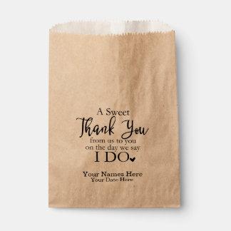 Sacolinha Um obrigado doce você favorece as bolsas, Wedding