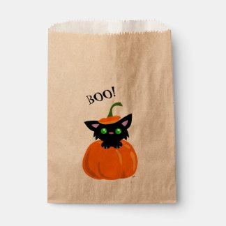 Sacolinha VAIA! Gato bonito em um saco do favor do Dia das