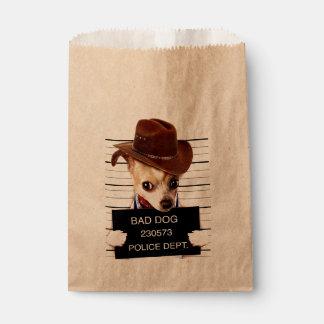 Sacolinha vaqueiro da chihuahua - cão do xerife