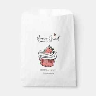 Sacolinha Você é saco doce do favor dos namorados do cupcake