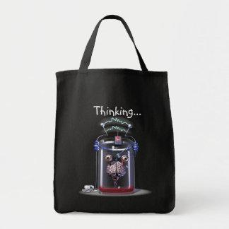 Sacos de compras de pensamento do cérebro sacola tote de mercado