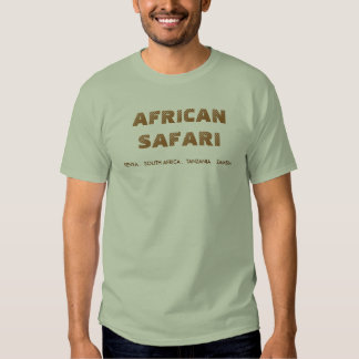 SAFARI AFRICANO - PEDRA TSHIRT