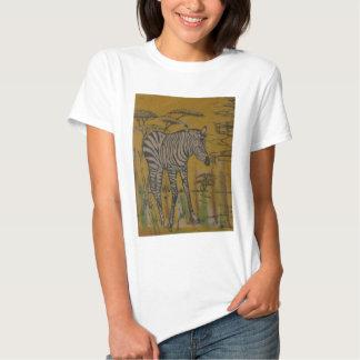 Safari africano Zebra.png de Kenya da vida Camiseta