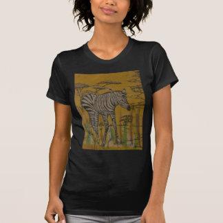 Safari africano Zebra.png de Kenya da vida selvage T-shirt