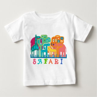 Safari - animais da selva camiseta para bebê