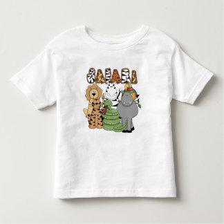Safari animal camiseta infantil