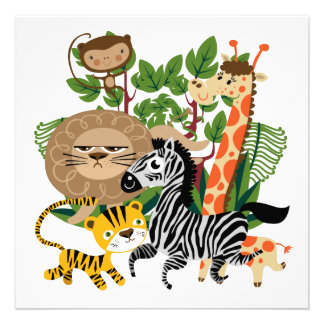 Safari animal convites personalizado