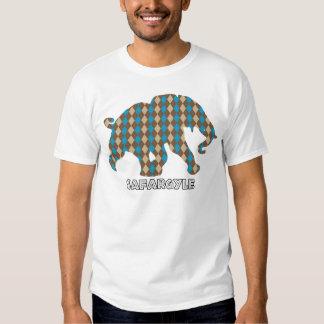 "Safari Argyle de ""Safargyle"" do africano da camisa T-shirts"