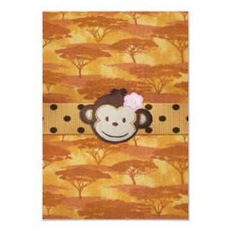 Safari do macaco convite 8.89 x 12.7cm