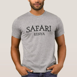 Safari Kenya - T cinzento Tshirts