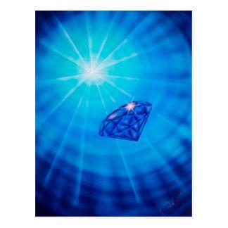 Safira com Diamantschliff Cartão Postal