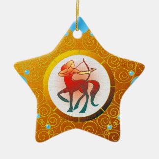 Sagitário do ornamento do sinal da estrela
