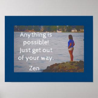 Saia de sua maneira -- Impressão da arte do zen -