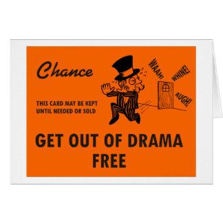 Saia do cartão LIVRE do drama