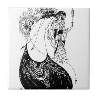Saia do pavão de Nouveau Beardsley da arte